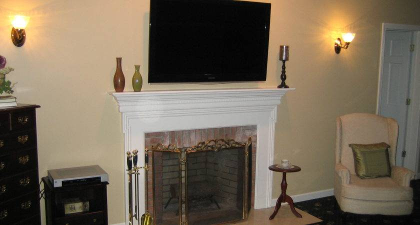 Above Fireplace Wall Mount Design Ideas