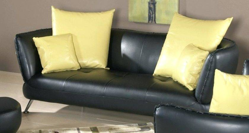 Accent Pillows Leather Sofa Thesofa
