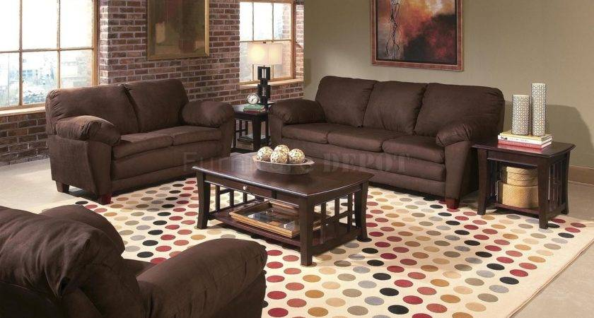 Accent Wall Color Brown Couch Elegant Traditional