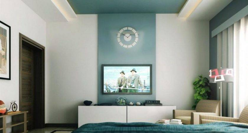 Accent Wall Color High Walls Round Clock