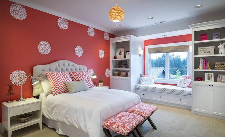 Accent Wall Kids Room Contemporary Girl