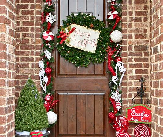 Achieve Perfect Front Door Decor Christmas