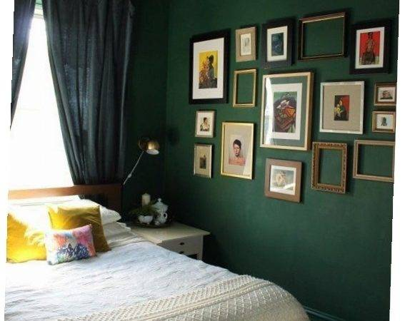 Adorable Dark Green Bedroom Best Walls