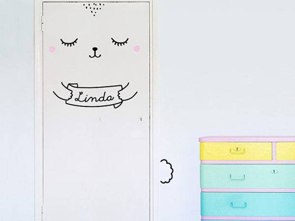 Adorable Door Decal Animal Themes Home Design