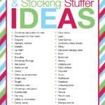 Advent Calendar Stocking Stuffer Ideas Organised