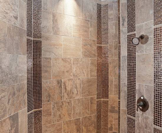 Affordable Large Rustic Walk Shower Home Design Photos