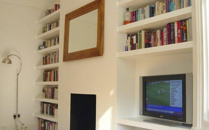 Alcove Shelves Like But Replaces Mirror