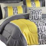 Alcove Sophie Comforter Set Twin Yellow Gray