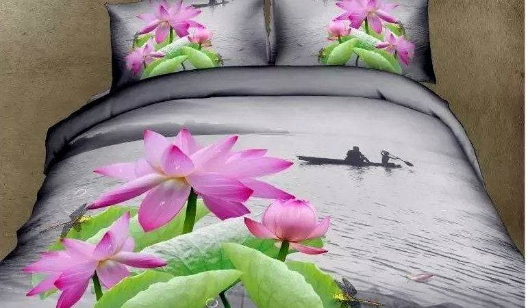 Aliexpress Buy Water Lily Lotus Floral Bedding