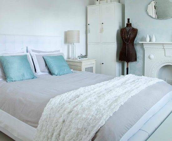 All White Bedroom Hint Colour Small