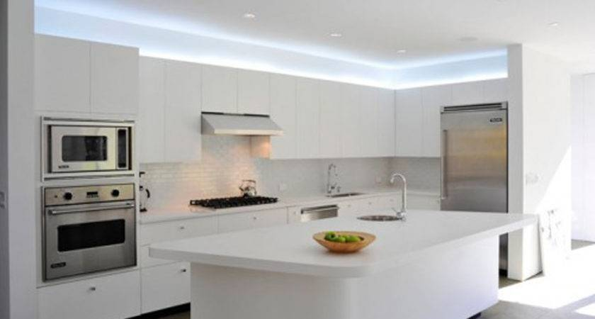 Alluring White Led Lights Ceiling Above Counter