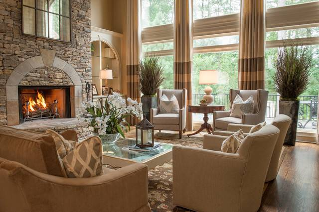 Alpharetta Residence Traditional Living Room