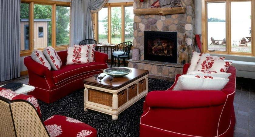 Amazing Addition Interesting Red Taupe Living