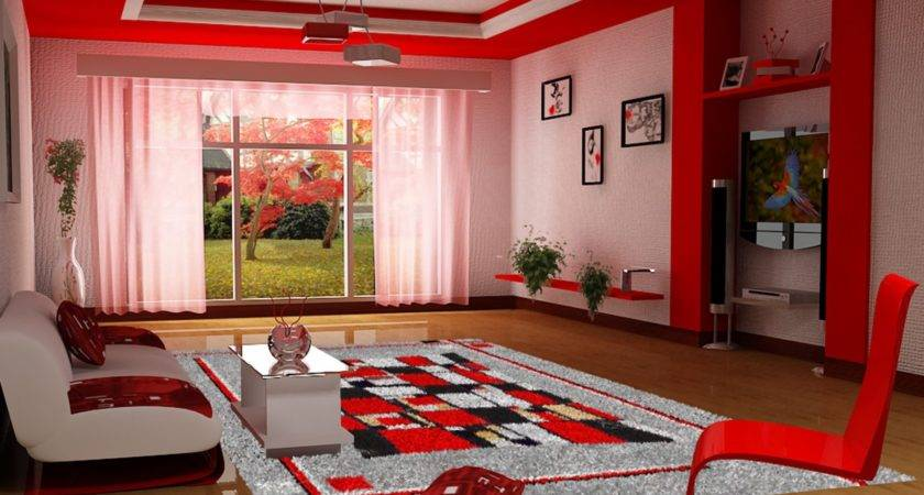 Amazing Awesome Red Living Room Ideas Cream