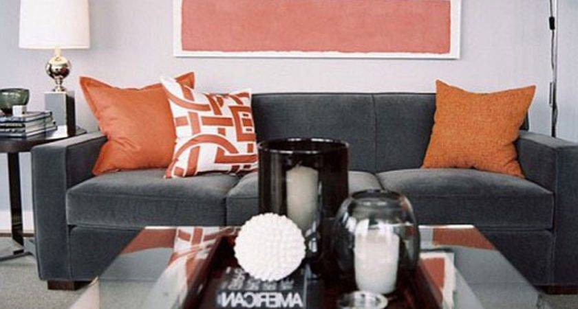 Amazing Cool Living Room Ideas Grey Orange