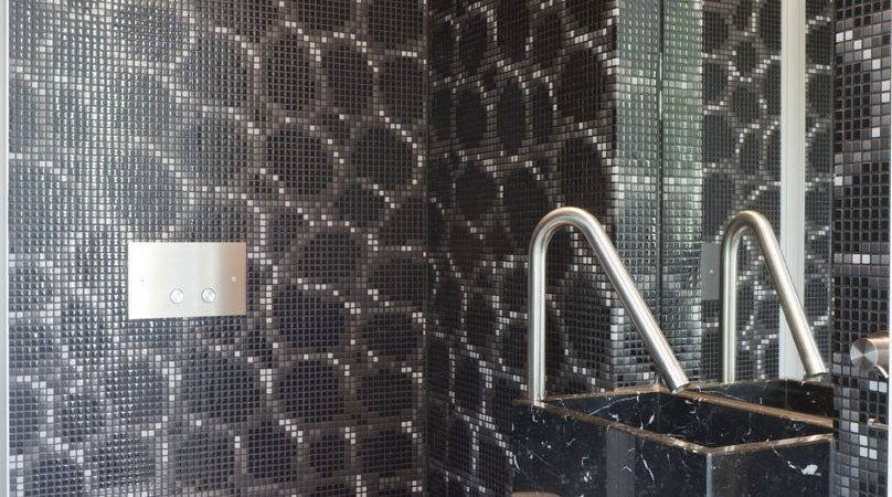 Amazing Glazing Bathroom Tile All Black Mosaic Tiles