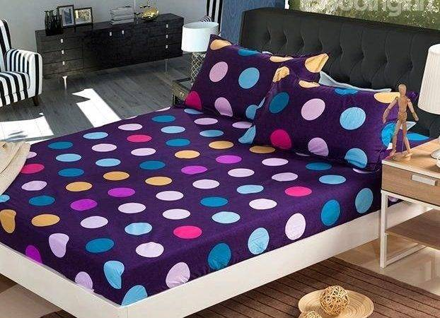 Amazing Multi Colored Polka Dot Design Fitted Sheet
