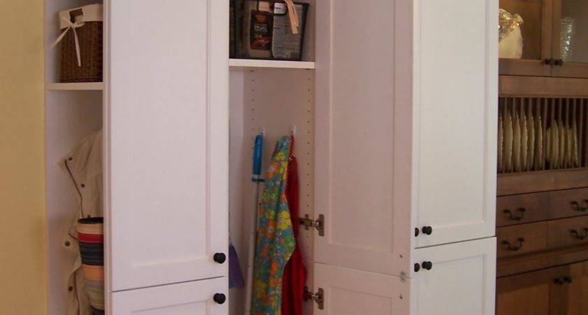 Amazing Next Put Broom Closet Pantry Trash Can