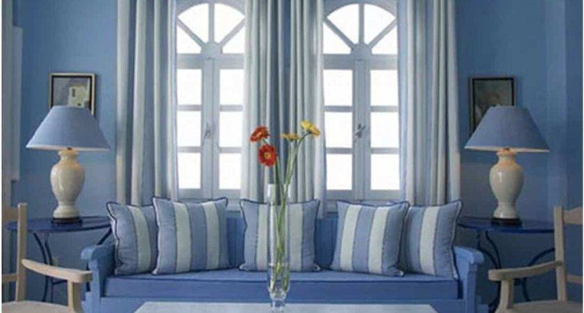 Amazing Soft Blue Theme All Living Room Part