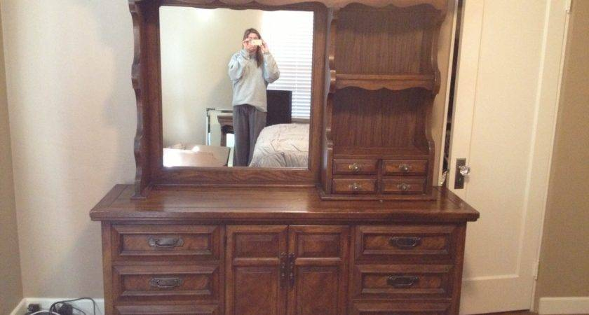 Amazing Teak Wooden Bedroom Vanities Mirror Shelves