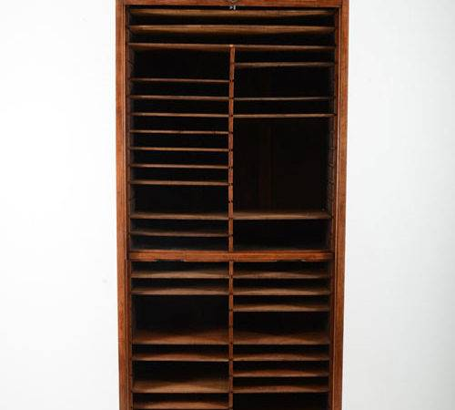 American Oak Cabinet Roll Top Door Solvang