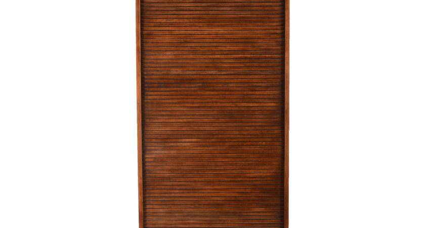 American Oak Cabinet Roll Top Door