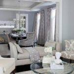 Amusing Living Room Dining Combo Beige Couch Grey Rug