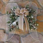 Angel Wings Christmas Wreath Decoration