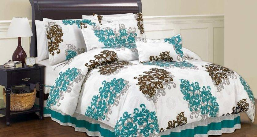 Angelina King Comforter Set Duck River Bed Brown