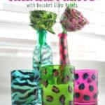 Animal Print Painted Glass Diy