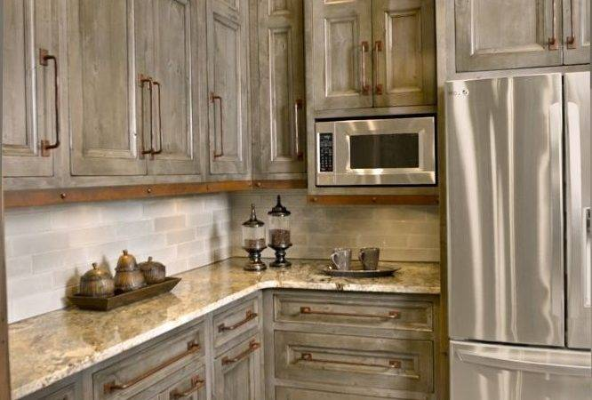 Antique Gray Kitchen Cabinets