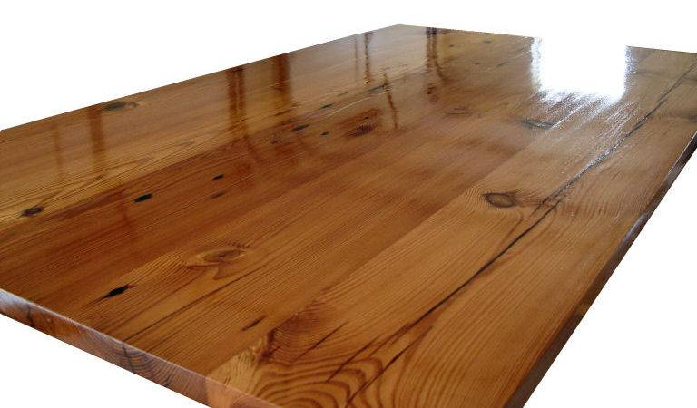 Antique Longleaf Pine Custom Wood Countertops Butcher