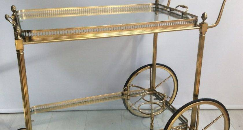 Antiques Atlas Vintage French Brass Drinks Trolley Bar