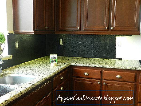 Anyone Can Decorate Kitchen Back Splash Chalkboard
