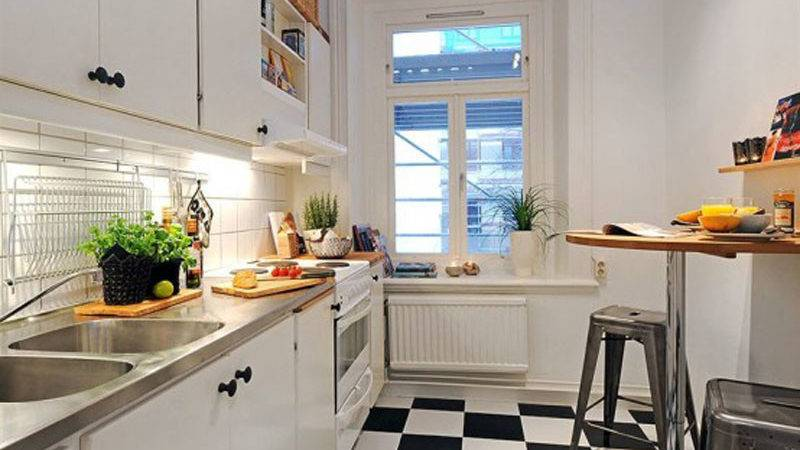 Apartment Small Modern Style Kitchen Studio