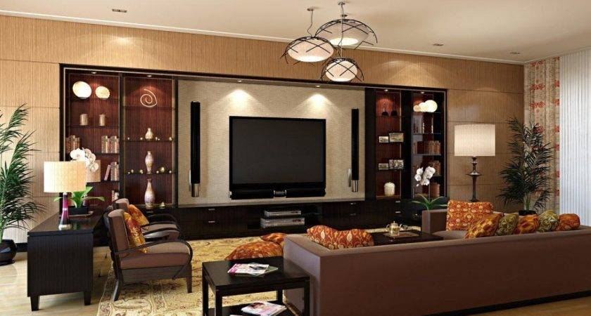 Apartments Luxury Living Room Decorating Ideas Brown