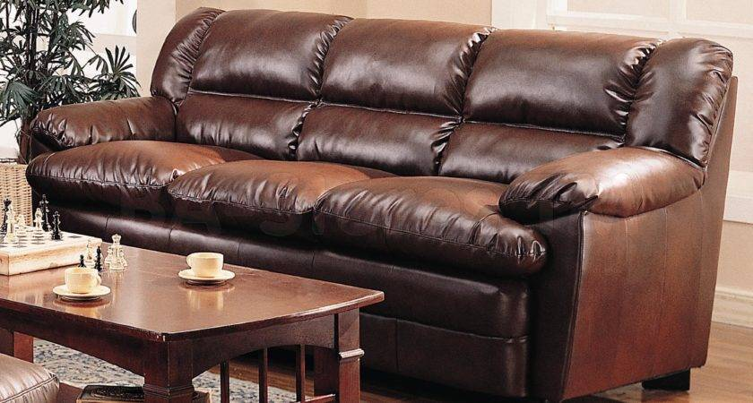 Appealing Brown Leather Sofa Living Room Classic