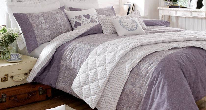 Appealing Lilac Bedding Wooden Floor