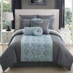 Aqua Grey Bedding Bedroom Gray Walls