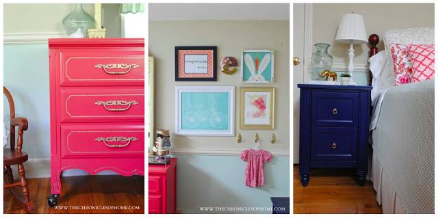 Aqua Navy Coral Girl Bedroom Chronicles Home