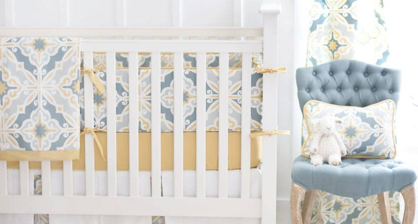 Aqua Yellow Gold Unisex Crib Bedding Newarrivalsinc