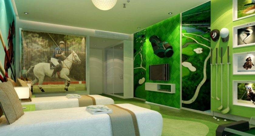 Architectural Rendering Interior Office Green Theme