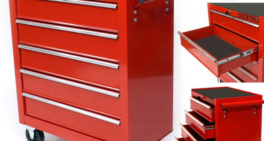 Arebos Workshop Tool Trolley Drawers Mobile