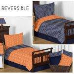 Arrow Orange Navy Toddler Bedding Set Sweet Jojo