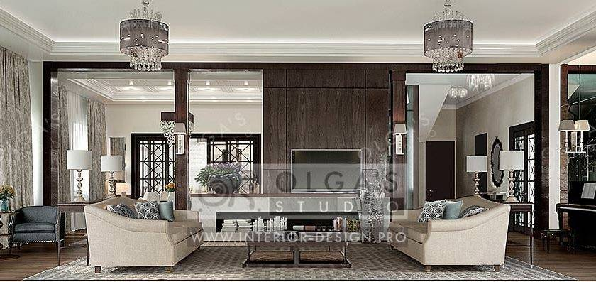 Art Deco Living Room Interior Design