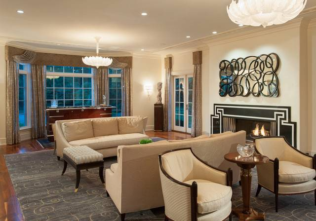 Art Deco Spectacular Contemporary Living Room