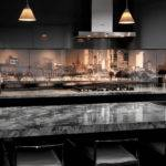 Art Glass Kitchen Splashback Melbourne Skyline