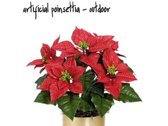 Artificial Poinsettia Outdoor Holiday Gifts Decorations