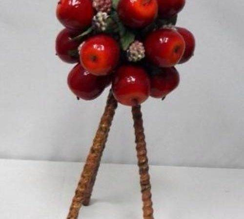 Artificial Red Apple Topiary Home Decor Vegetable Fruits