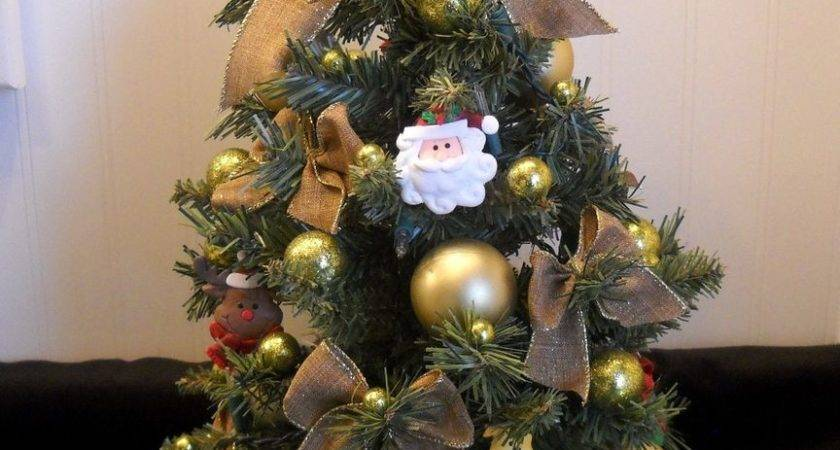 Artificial Rustic Christmas Tree Floral Centerpiece Flower